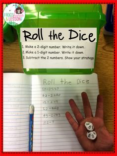 Frogs, Fairies, and Lesson Plans: My Fab Five Math Centers! - Part 1 roll the dice center