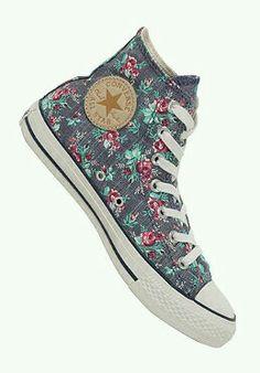 new styles f36cb 842c0 Converse Floreadas, Zapatillas Converse, Zapatos 2017, Zapatillas Mujer,  Zapatos Casuales, Zapatos