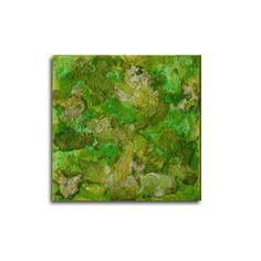 Abstrakt auf Leinwand 20x20x15 cm grün von AtelierMaltopf auf Etsy, $38.00