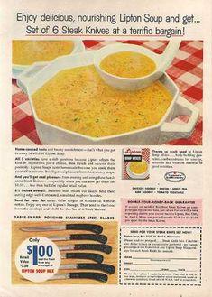 Still my favorite, even today.  Lipton's Soup Mixes (1959)