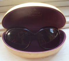 Vivienne Westwood Sunglasses (Women's Pre-owned Black Oversized Sun Glasses with Silver Logo)