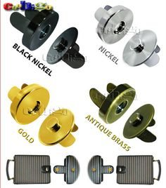 50set Magnetic Snap Fasteners Clasps Buttons Handbag Purse Wallet Craft Bags Parts Accessories 14mm 18mm Pick Colors #FLQ081