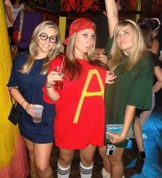 Alvin & The Chipmunks.... I think this is the best costume ever! love it & will be using the idea :)