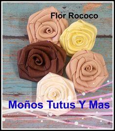 PAP Como Hacer ROSA DE LISTON Paso a Paso ROCOCO FLOWER Tutorial DIY How To                                                                                                                                                                                 Más