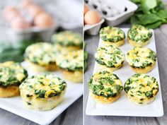 Egg Muffins With Sausage, Spinach and Cheese by @twopeasandpod