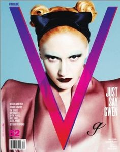 Gwen Stefani for V Magazine March love the orange buns and the pale white makeup! V Magazine, Naomi Campbell, Marie Claire, Cosmopolitan, Vanity Fair, Magazine Cover Layout, Magazine Covers, Madonna, Mathias Kiss