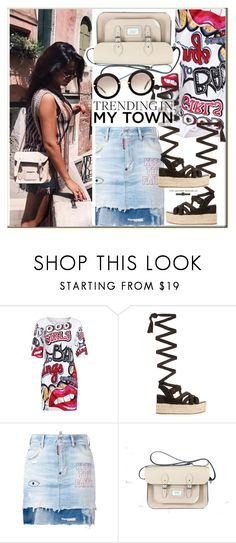 """""""Trending in my town"""" by leathersatchel ❤ liked on Polyvore featuring WithChic, Miu Miu, Dsquared2, satchel, mini and leathersatchel"""