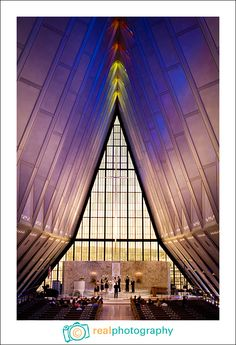 United States Air Force Academy Chapel { Real Photography }-wow, I wish.