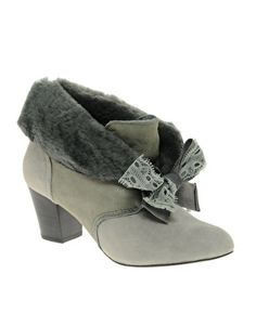 Miss L-Fire Ellison Sheepskin Heeled Ankle Boots - I want these so badly!!