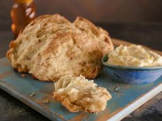 Get Golden Raisin-Fennel Semolina Soda Bread with Buttermilk-Orange Butter Recipe from Food Network