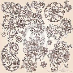 Afbeelding van http://thumbs.dreamstime.com/x/henna-mehndi-paisley-flowers-vector-tattoo-illustr-28440656.jpg.