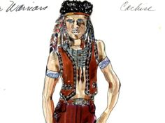 Original costume design for Cochise by Bobbie Mannix and Mary Ellen Winston