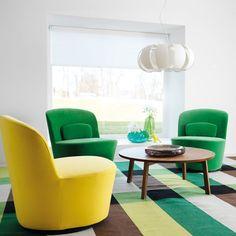 #ikea2014 sillones giratorios, alfombra y mesa