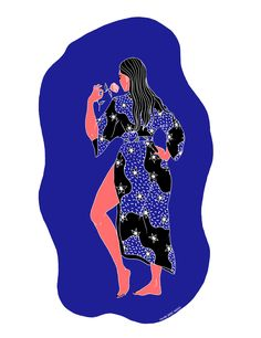 Women Frolic Free and Fairly Nude in These Saturated Illustrations - Creators