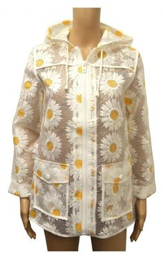 NEW Topshop Daisy Floral See Through PVC Raincoat Mac FESTIVAL 6 to 16 RRP £60