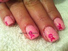 breast cancer nail art   Style Nail Art: Breast Cancer Pink With Ribbons Nail Art