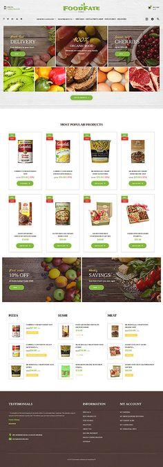 Template 62178 - Foodfate Foodfate Responsive PrestaShop Theme