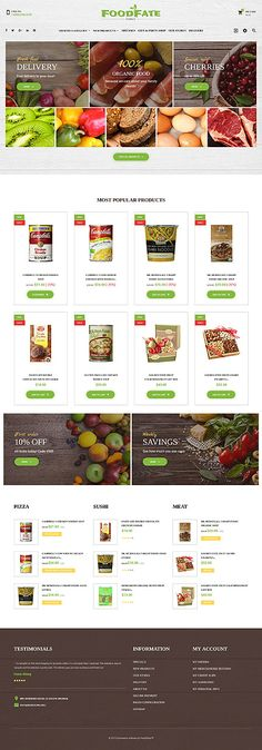 Food & Drink website inspirations at your coffee break? Browse for more PrestaShop #templates! // Regular price: $139 // Sources available: .PSD, .PHP, .TPL #Food & Drink #PrestaShop
