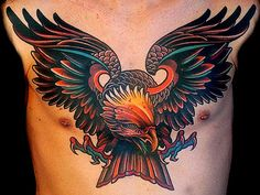 Jeez. I hate chest tattoos (too emo) but the style by Lars Uwe in Berlin is unreal. Look at the color and linework, damn.