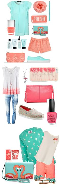 Flamingo Fashion-- How cute are all these flamingo outfits? -->Click through to get sources   Crafting in the Rain