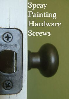 How to Spray Paint Screws