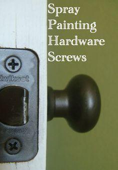 How to Spray Paint Screws