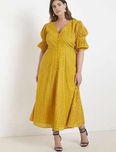 View our Eyelet Dress with Puff Sleeves and shop our selection of plus size designer women's Dresses, plus size clothing and fashionable accessories. Plus Size Maxi Dresses, Plus Size Outfits, Short Sleeve Dresses, Dresses With Sleeves, Women's Dresses, Beach Dresses, Ivory Dresses, Fall Dresses, Evening Dresses