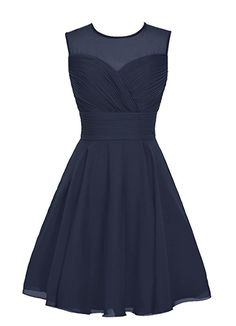 Wedtrend Women's Short Tulle Sweetheart Homecoming Dress Bridesmaid Dress Size 12 Navy