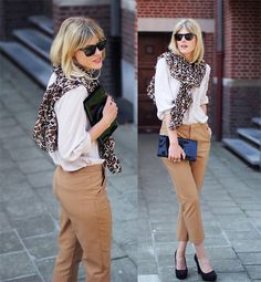 Sequoia Clutch, Persol Sunglasses, Carven Shoes, H Scarf