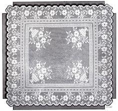 Oficios Vintage y Más - Patrón Filet Crochet té Mantel