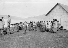 Revillon Freres post servants at Kangiqsujuaq (Wakeham Bay), QC, 1909 by Musée McCord Museum, via Flickr