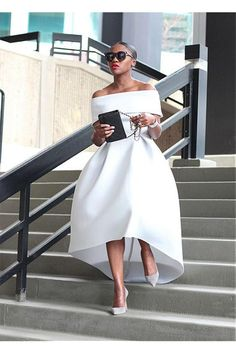 High Low Off-the-Shouolder Prom Dresses Formal Evening Dresses 601218 – Nederland mode High Low Prom Dresses, Prom Dresses With Sleeves, A Line Prom Dresses, Formal Evening Dresses, Ball Dresses, Elegant Dresses, Strapless Dress Formal, Beautiful Dresses, Ball Gowns