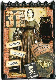 A Nostalgic Halloween: ATC - Creepy Spooky Night