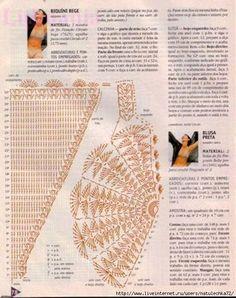 As Receitas de Crochê: Gráficos de biquínis de crochê