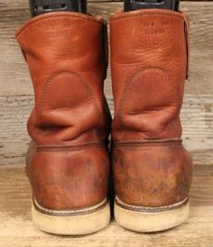 MENS-VINTAGE-1980S-RED-WING-IRISH-SETTER-LEATHER-CREPE-SOLE-WORK-BOOTS-SZ-11B