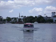 One of the Friendship boats arriving at Disney's Boardwalk Inn and Villas. These boats arrive regularly and also pick up and deliver passengers not only to Walt Disney World's Epcot Center, but to any of the various resorts such as the Beach and Yacht Club Resorts(Disney's Beach and Yacht Club Villas are also part of Disney's Vacation Club Resorts). The Swan and Dolphin Resorts are also located on the lakeside and the Friendship boats service them, as well. Fun and fabulous way to get…