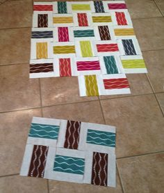 Crossed Paths Assembly 3. A quilt tutorial. *Instructions* like this pattern.