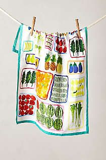 Anthropologie - Floating Market Dishtowel