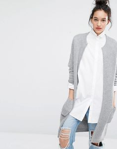Image 1 ofSelected Misa Longline Knitted Cardigan