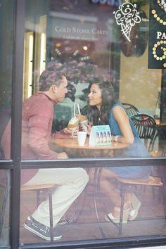 ice cream store engagement Photo By Alyssa Turner Photography