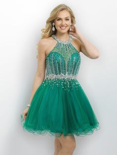 Stand out in this stunning party dress with a beaded halter top featuring a sweetheart neckline and sassy tulle dress, and it's at Rsvp Prom and Pageant, your source for the Hottest Homecoming, Prom,