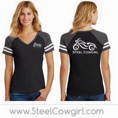 Black/Gray Short Sleeve V-Neck Raglan Shirt