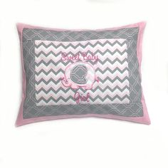 Sweet Baby Girl Appliquéd and Embroidered Pillow Cover