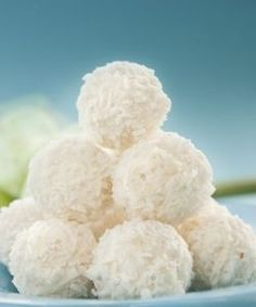 No-Bake Coconut Snowballs - great for diabetics, diabetes recipes, no sugar desserts