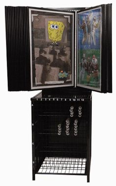 Poster Display Rack ~ Shows 48 different on 24 Wings ~ Holds 336 rolled below