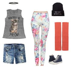 """""""Untitled #41"""" by glitterypinkblood ❤ liked on Polyvore featuring American Eagle Outfitters, Converse and Isolde Roth"""
