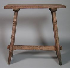 Stool    Date:      15th century  Culture:      French or South Netherlandish  Medium:      oak  Dimensions:      Overall: 22 3/4 x 21 3/4 x 9 1/2 in. (57.8 x 55.2 x 24.1 cm)  Classification:      Woodwork  Credit Line:      The Cloisters Collection, 1947  Accession Number:      47.101.72