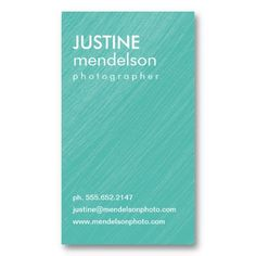 Aqua Vintage Camera Photography Business Cards