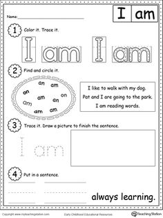 7 best sight word images on pinterest preschool sight words sight learning sight words i am practice recognizing the sight word i am with ibookread PDF