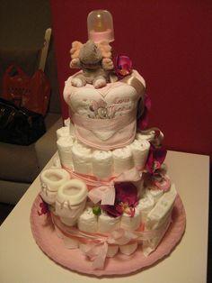 "Diaper cake ""Anna"" www.tortedipannolinimaggie.blogspot.com"